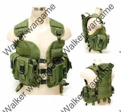 Tactical Navy Seal Combat Modular Assault Vest - OD Green