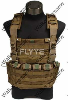 FLYYE Lightweight WSH Chest Rig Molle Vest - Desert Tan