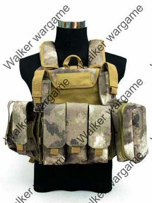 US Force Recon Marine MOD MOLLE Vest - A-Tacs AT