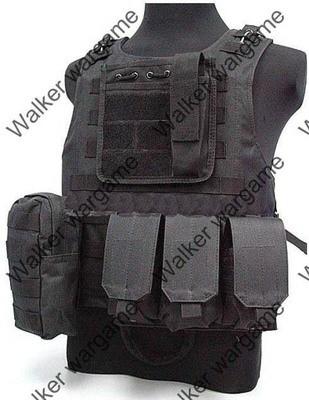 USMC FSBE Molle Combat Assault Plate Carrier Vest  - SWAT Black