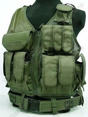 TAC Tactical vest With Belt - OD Green