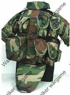 OTV Body Armor Carrier Molle Vest - Woodland