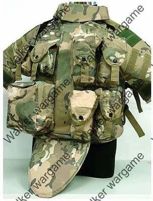 OTV Body Armor Carrier Molle Vest - Multi Camo