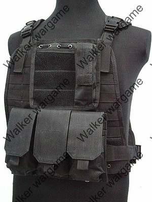 C2 Strike Molle Tactical Vest - SWAT Black