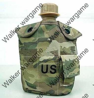 1Qt Canteen Water Bottle w/Pouch & Cup - Multi camo