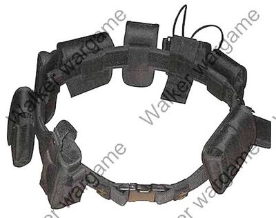 Tactical 10 In 1 Black Law Enforcement Modular Belt - SWAT Black