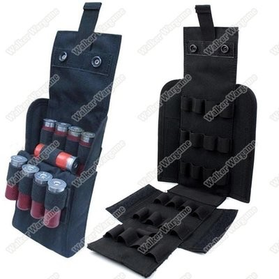 Tactical 25 Round Shotgun Shotshell Reload Holder Molle Pouch For 12 Gauge/20G - Black