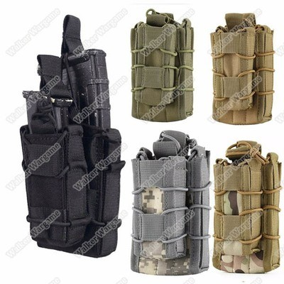 WWG Molle Bungee Rifle Mag And Pistol Mag Pouch Magazine Holder