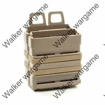 7.62 G3 M14 Molle FastMag Rifle Magazine Clip Holder Pouch Set - Tan