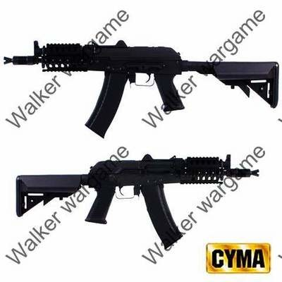 CYMA Tactical AKS-74UN Assault Metal Rifle with MOD Stock CM.040H - Black