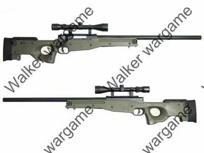 WELL L96 AWP Bolt Action Sniper Rifle - With Bipod With Scope