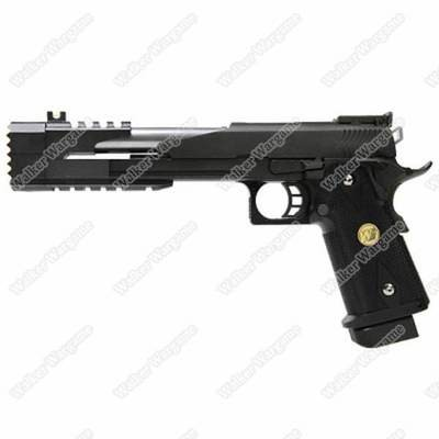 WE HI CAPA 7inch Dragon B Full Metal GBB Pistol Tactical Assault Pistol - Black