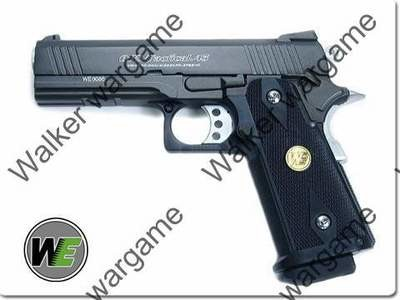 WE HI-CAPA 4.3 OPS-Tactical Full Metal GBB Pistol - Black
