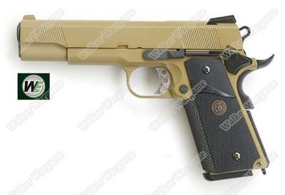 WE M.E.U. 1911 Railed Full Metal Airsoft GBB Pistol - Tan