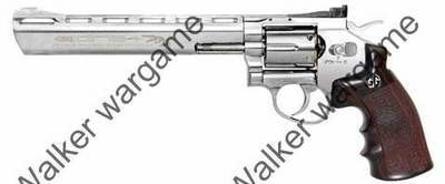 G&G Full Metal G734 CO2 Gas Airsoft Revolver - Silver (With Quick Loader + 6 Shell)