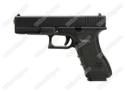 WE Tech Glock 17 Green Gas Blow Back Pistol - Black