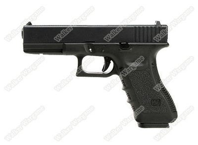 WE Tech Glock 17 Green Gas Blow Back Pistol - Black