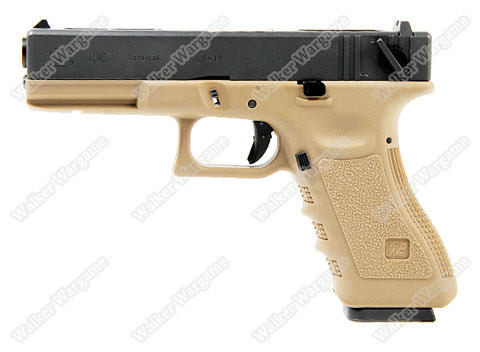 WE Tech Glock18C Geen Gas Blow Back Pistol - Tan Semi Auto/Full Auto
