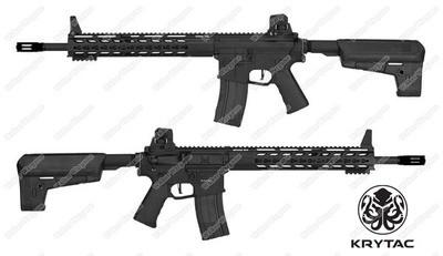 Krytac Full Metal Trident MKII MK2 SPR DMR Airsoft AEG Rifle - Black