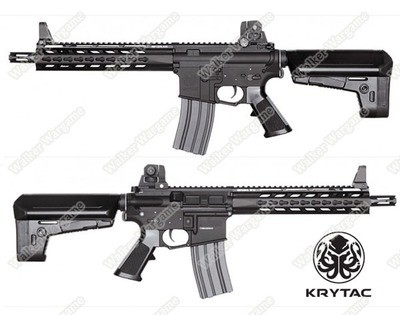 KRYTAC Trident MK2 MKII CRB Carbine Full Metal Keymod Airsoft AEG Rifle - Black