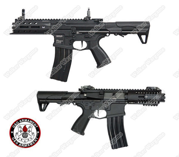 G&G APR 556 CQB AEG Airsoft Rifle Build In ETU Electronic Trigger Unit - Black