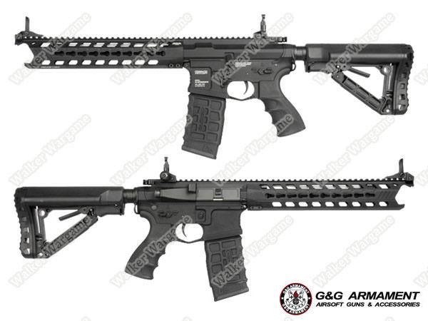 "G&G GC16 ""Predator"" Full Metal Airsoft AEG Rifle with Keymod Rail - Black"