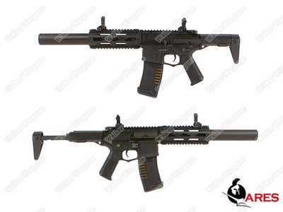 ARES Amoeba Honey Badger MR/E-SD Am014 Airsoft AEG - Black