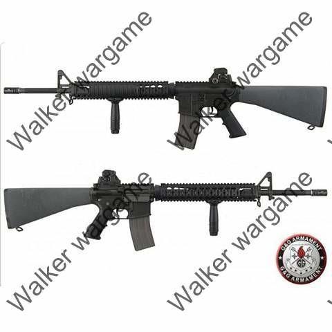 G&G M16A4 Full Metal TR16 R5 Blow Back AEG Airsoft Gun - Black