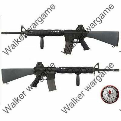 G&G M16A4 Full Metal TR16 R5 Blow Back AEG Airsoft Gun - Black