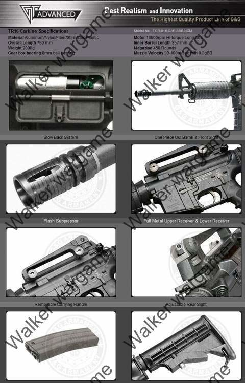 G&G TR16 Top Tech M4A1 Carbine Full Metal Airsoft Electric