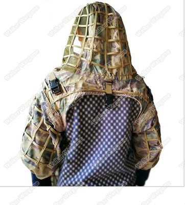 Army Sniper Ghillie Hood Tactical Combat Sniper Suit Ghillie Suit Hood CP