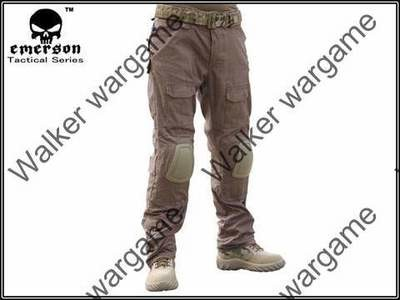 Combat Pants Build In Knee Pads - Coyote Brown