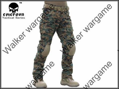 Combat Pants Build In Knee Pads - Digital Woodland