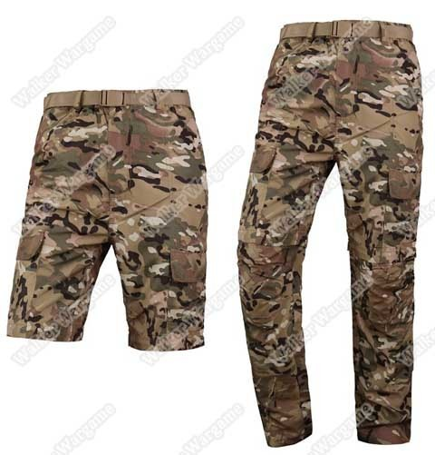 US NAVY SEALS Quick Drying Tactical Pants Trousers Can Become Shorts - Multi Camo