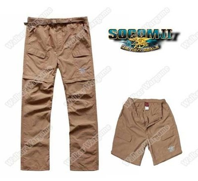 US NAVY SEALS Quick Drying Tactical Pants Trousers Can Become Shorts - Desert Tan