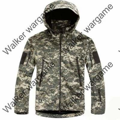 US Army Digital Camo ACU Soft Shell Combat Jacket