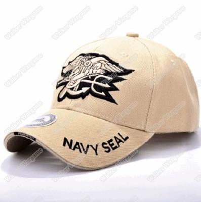 Operator Cap - US Navy SEAL Trident Eagle Commemorative Cap BaseBall Cap - Tan