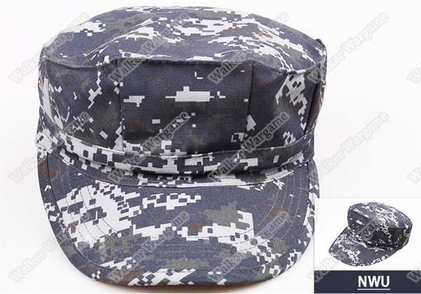 US Navy NWU Digital Navy Camo - GARRISON Style Patrol Cap