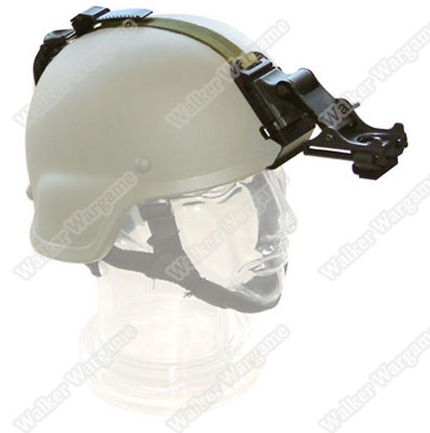 US Army MICH Helmet Flip-up Helmet Mount With Straps Full Set