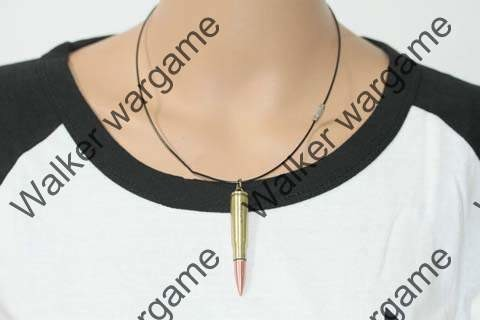 Dummy 5.56 Rifle Bullet Necklaces