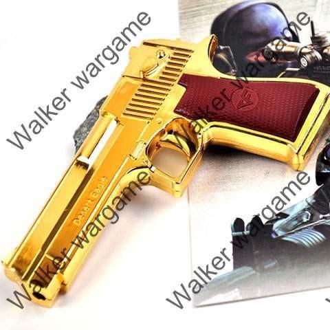Mini Golden Desert Eagle Red Laser Gun Pistol