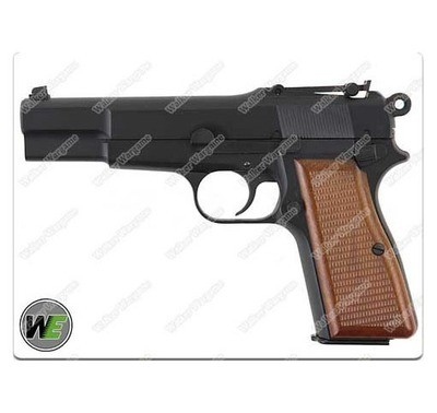 WE Browning Hi-Power (M1935) Full Metal Airsoft GBB Pistol - Green Gas