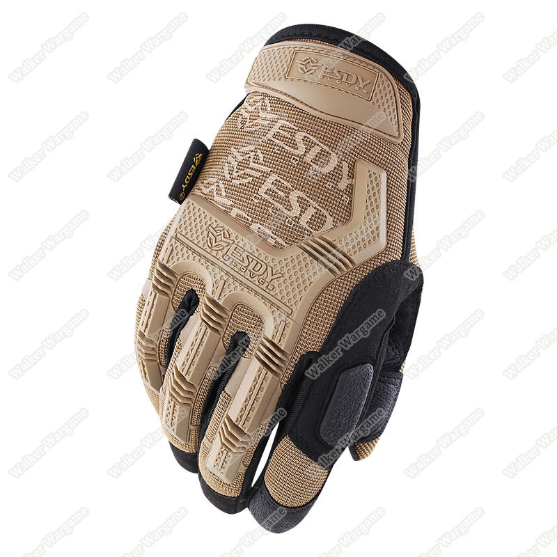 ESDY MPact Tactical Full Finger Gloves - Desert Tan