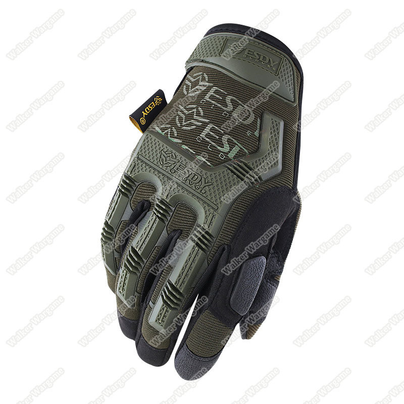 ESDY MPact Tactical Full Finger Gloves - OD Green