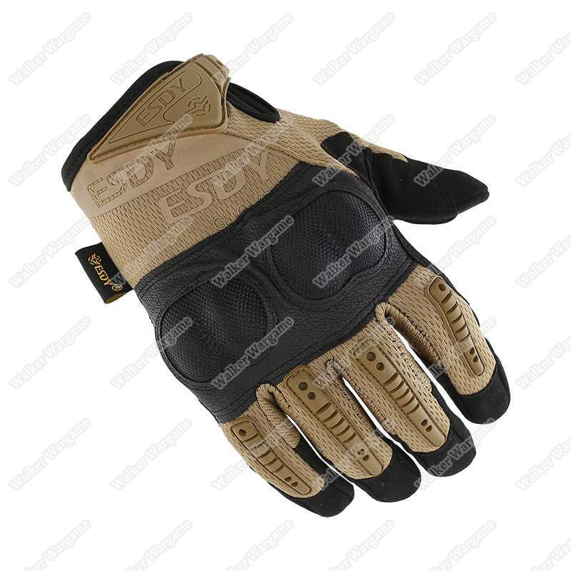 ESDY OPact Tactical Full Finger Gloves - Desert Tan