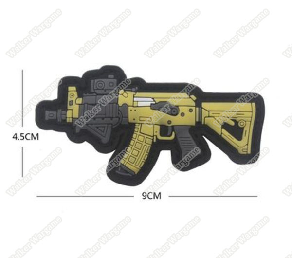 PWG003 PVC Rubber Tactical AK Patch With Velcro - Full Colour
