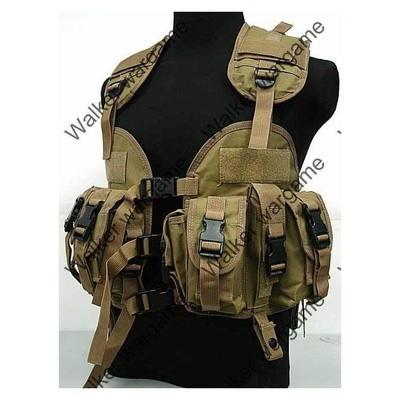 Tactical Navy Seal Combat Modular Assault Vest - Marine Desert Tan