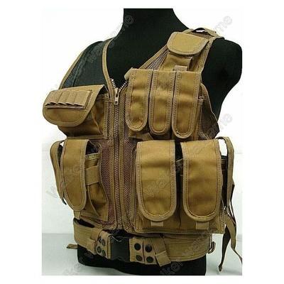 TAC Tactical vest With Belt - Coyote Tan