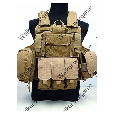 US Force Recon Marine MOD MOLLE Vest - TAN