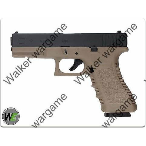 WE Tech Glock 17 Green Gas Blow Back Pistol - Tan